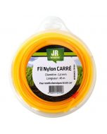 Square Nylon Trimmer-Line - Replacement Strimmer Line - 2.4mm x 45m - JR FNY039