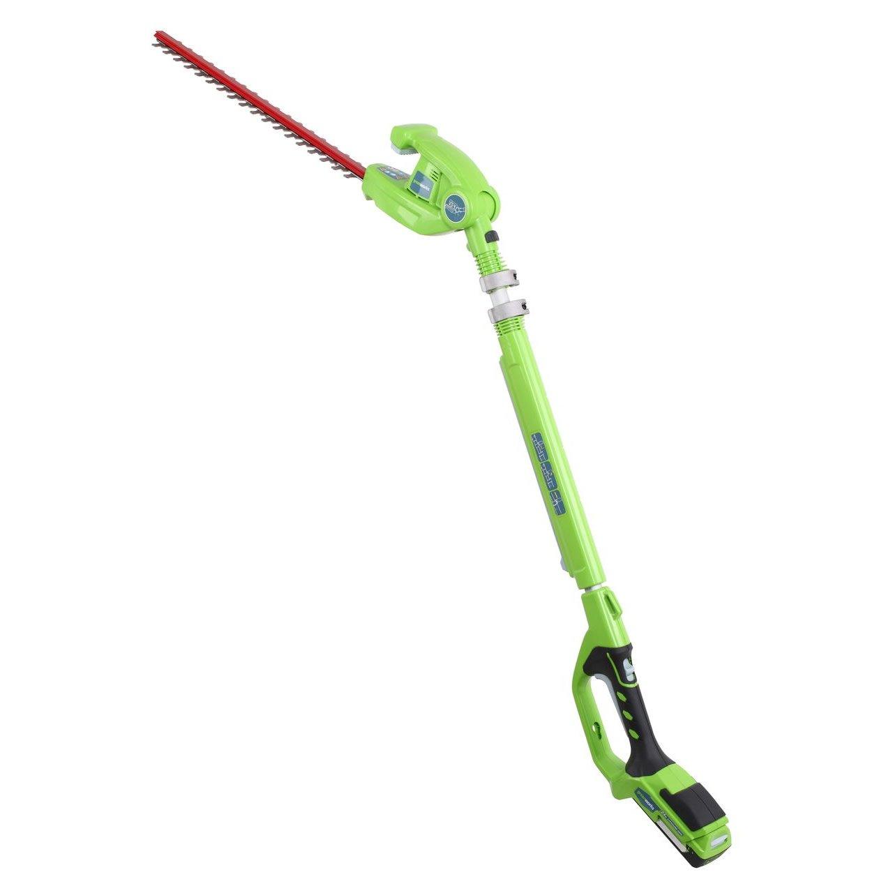 Greenworks 24v Long Reach Cordless Hedge Trimmer (22157T)