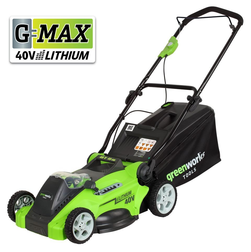 Greenworks G-MAX 40Li-40V Lithium-Ion 3-in-1 Cordless Lawn Mower (25347) (Special Offer)