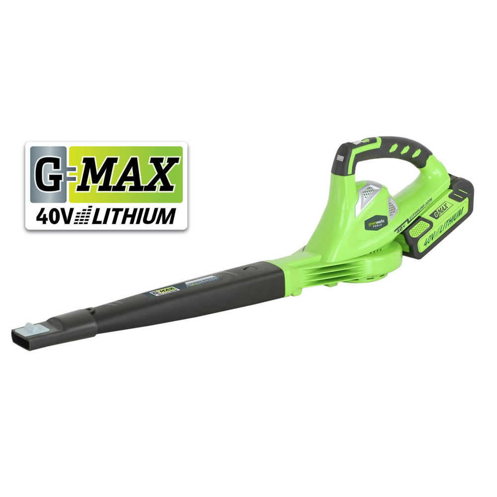 Greenworks G-Max 40v Cordless Variable Speed Leaf Blower (24107 - Tool Only)