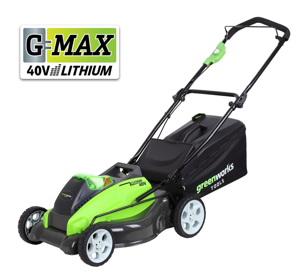 Greenworks G-MAX 45Li-40V Lithium-Ion 4-in-1 Cordless Lawnmower (25357)