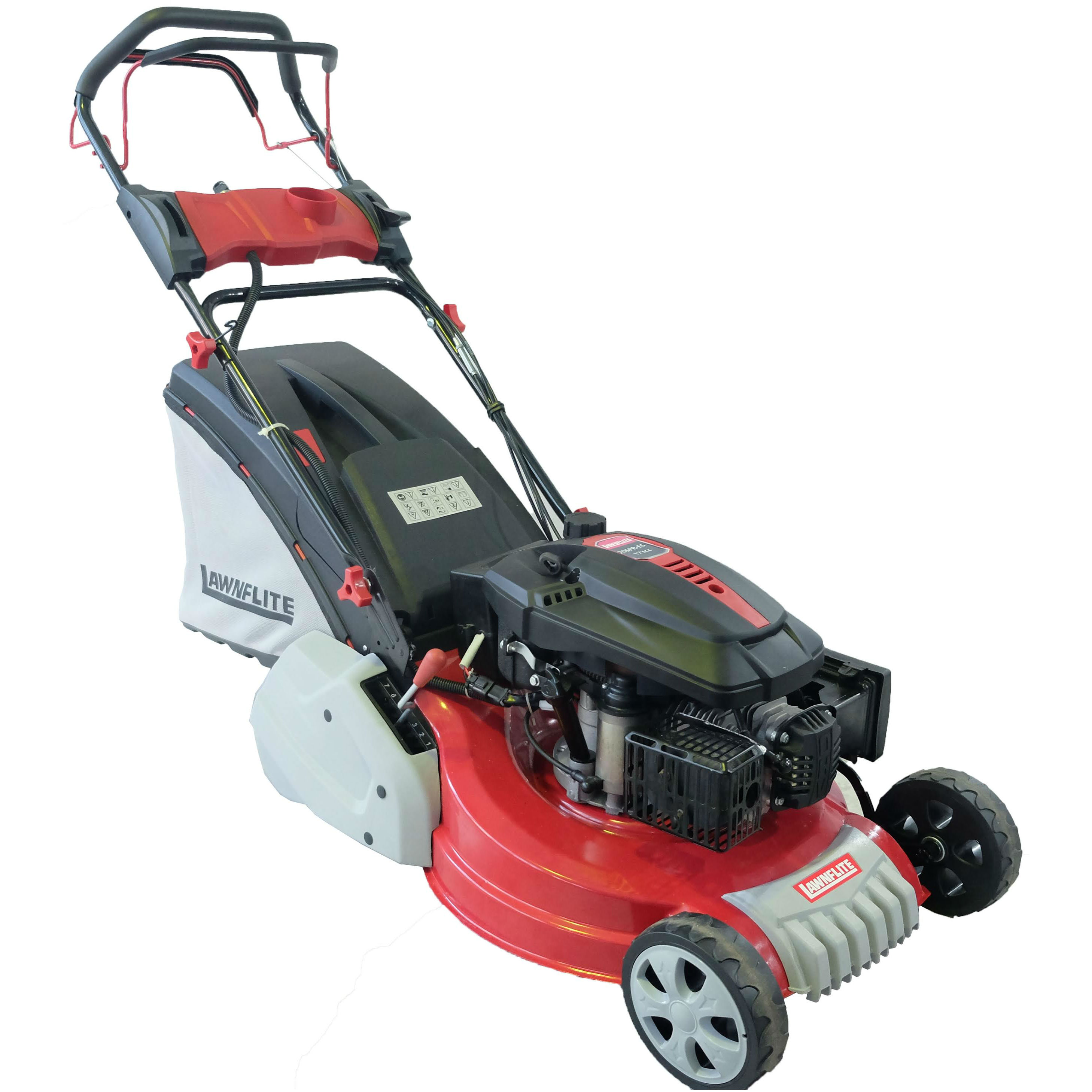 Lawnflite 20SPR-ES Self-Propelled Petrol Rear-Roller Lawnmower with Electric Start