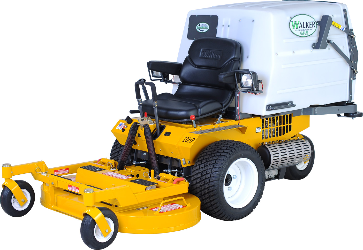 Walker MCGHSCEU 21HP Petrol Out Front Zero-Turn Ride-On Mower (with Manual- Dump Integrated Collector)